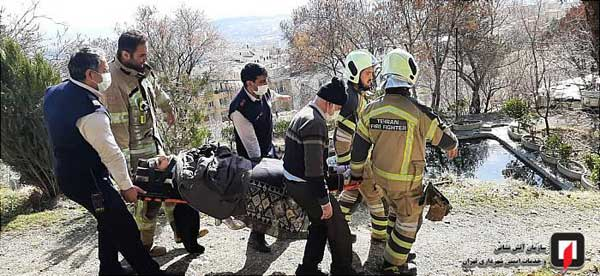 سقوط یک دختر به دره در ارتفاعات تهران (+تصاویر)