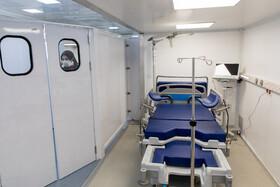اتاق زایمان بزرگترین بیمارستان سیار کشور