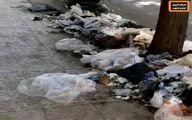 تبدیل خیابانها اهواز به زبالهدانی