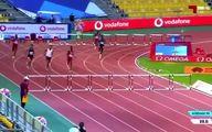 لحظه تلخ برخورد به مانع و زمین خوردن دونده ایرانی در لیگ الماس