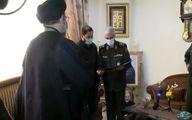 اهدای حکم سرلشکری شهید حجازی توسط سرلشکر محمد باقری
