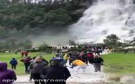 ببینید: آبشار رویایی Tvindefossen در نزدیکی شهر voss در نروژ با ارتفاع ۱۵۰ متر