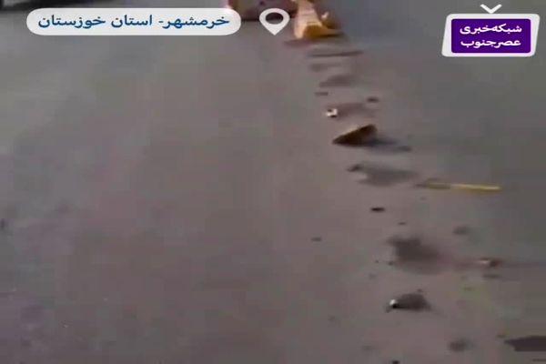 دزدی عجیب در روز روشن روی پل خرمشهر+فیلم