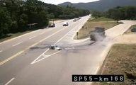 تصادف وحشتناک و مرگ راکب موتورسیکلت زیر کامیون