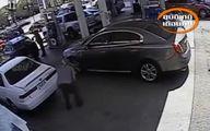 تصاویری از جدیدترین روش سرقت در پمپ بنزینها