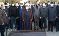 مراسم وداع و خاکسپاری غریبانه علی انصاریان؛ نماز عمو بر پیکر برادرزاده+فیلم