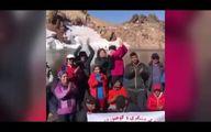 همراهی خرس قهوه ایی با کوهنوردان در سبلان