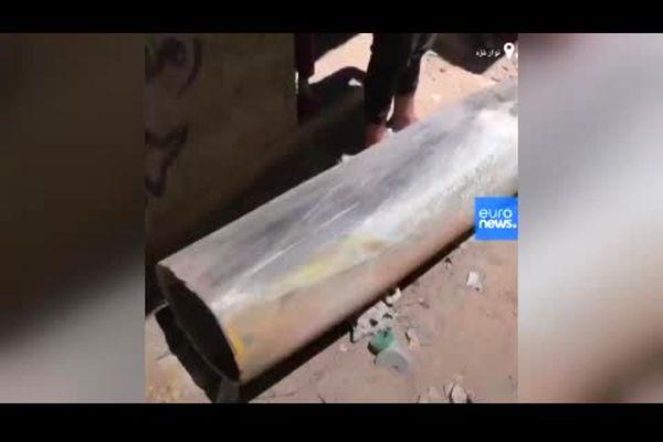 تصاویر بمب عمل نکرده اف-۱۶ اسرائیلی وسط غزه