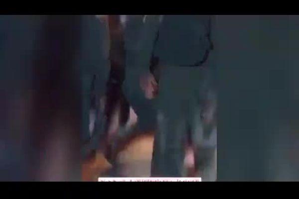دختر فلسطینی زیر پای نظامیان وحشی صهیونیست|فیلم
