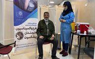 ترانه خوانی محمد صالح علا هنگام تزریق واکسن کرونا